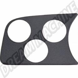 Plaque support manomètre noire 3 trous